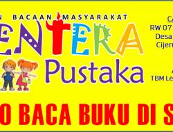 Giatkan Literasi, TBM Lentera Pustaka Siapkan Cabang ke-2 di Cijulang Sukaharja Cijeruk Bogor